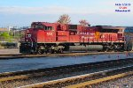 CP 288 crawls their long train in the south yard lead