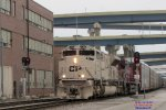 Daily intermodal 199 led by the new SD70ACU Army tribute loco splits the mp 86 westbound signals