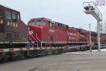 CP 281 @ mp 85 rolls thru the intermodal depot