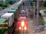 CP 650 is heading into Muskego yard as 199 intermodal exits to main 2