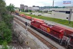 Recent rebuild will roll in the north lead with intermodal 198 rolling west on main 2 from Muskego yard