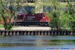 "CP 198 intermodal about to duck thru the ""intermodal"" depot"