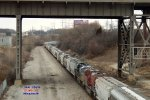Mid-train dpus in CP 384 & 375 creep into Muskego yard
