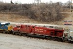 Mid-train dpus in CP 384 & 375 roll into Muskego yard