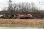 Combined CP 384 & 375 wander toward the gate of Muskego yard