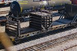 Tail end of the quarter-mile welded rail train