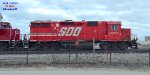 Sibling CP 4599 {once Soo 4598} was painted over to the beaver side in 1999.