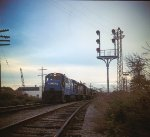 CR 2917 leads a westbound on the Falls Road just north of Jay St. Photo circa 1977