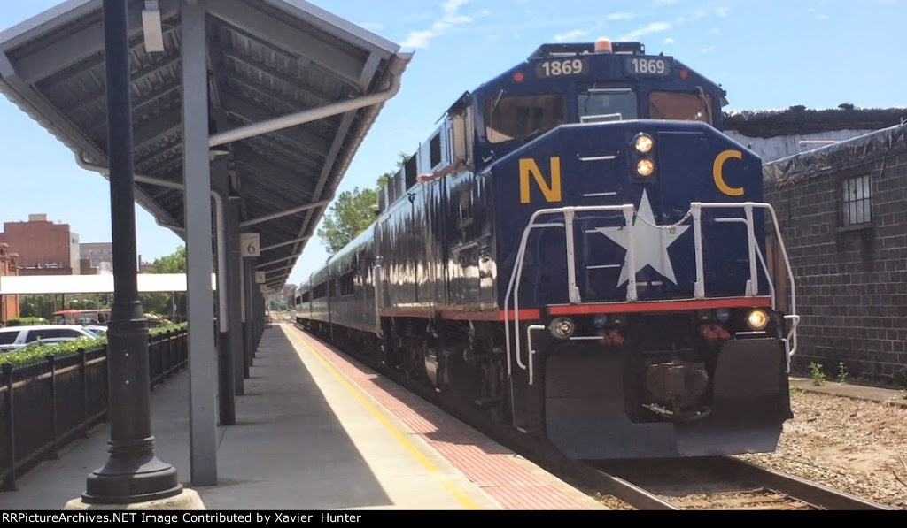 RNCX 1869 leads Amtrak 75 Departing Durham,NC
