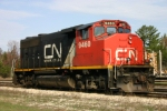 CN 9460 was holding down the Rhinelander turn