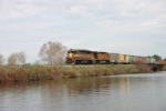 CN train L598 crosses the Wisconsin River