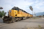 UP SD-40-2R #3278 pulls across Forest St. as it works the yard at Brigham City, Ut. 7/28/2014