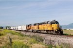 Cache Valley Local with UP SD-40-2 #3750 in the lead at 2500 N Grade Xing in North Logan, UT. 6/25/2014