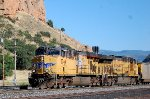 UP ES-44AC #5364 leads a westbound hopper train through beautiful downtown Echo, UT. 8/16/2014