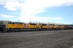 UP SD-70AH #8866 is ready to leave the yard with an eastbound at Pocatello, ID. 9/7/2014