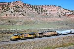 UP SD-70ACE #8416 leads a westbound grain train at Castle Rock, UT. 9/20/2014