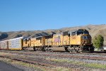 UP SD-70M #5049 leads an eastbound autorack train at Echo, UT. 9/20/2014