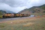 UP AC4400CWCTE #5971 leads an eastbound coal train across Diamond Fork Rd. near Thistle, UT. 9/27/2014