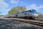 Amtrak 715 rips through with Empire Service #283