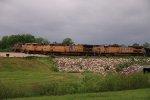 4 Loaded coal drags Waite to depart Marysville KS.