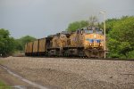 UP 5890 Drags a coal load out of Marysville KS..
