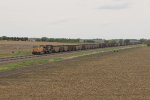 UP 7323 Roars east with a loaded coal drag in tow..