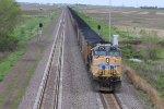 UP 5776 Work's Dpu over Nebraska.