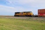 UP 8463 Dpu on a Westbound stack train,