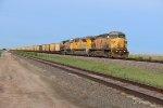 UP 6811 Drags a empty coal through the Nebraska Flats.