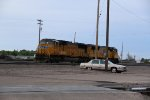 UP 4702 Sits tied down as lite power in Grand Island.