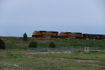 BNSF 8847 Drags a empty coal over the Up at Grand Island.