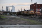 UP 5675 Drags a loaded coal through Grand Island Nb,