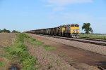 UP 8142 Newer gevo leading a coal load down the Triple track.