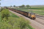 UP 7096 Rolls a load of coal down the Triple track.