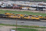 UP 8325 And other's sit around North Platte's Bailey yard.