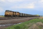 UP 6739 Rolls west down the Triple track toward North Platte Nb,