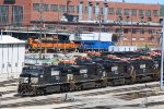 BNSF 2677 Sits near the Diesel shops in Argentine yard.