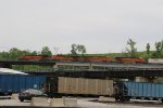 BNSF 7269 Leads a EB Q train over the flyover in Kc.