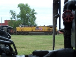 UP 5639 Pushes a Coal Train Past Golden Spike Park - As Viewed Between Two of #844's Cars