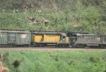 PC U23B 2742, and CNW GP30 812 break down the hill