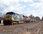 CSX 73 (X020) leading a power move of 11 units