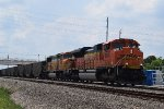 BNSF 9164 leads SB coal train