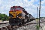 Rerouted KCS grain train idles
