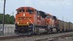 BNSF 8554 leads an empty coal train north