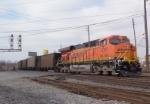 BNSF 5797 in pusher service near Turner Field