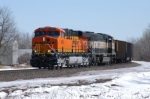 BNSF 5884 Leading and empty Coal Train