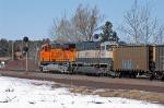 BNSF 9612 trailing