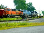 BNSF 6953, CEFX 1014, and NS 1099 in SK Yard