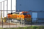 BNSF 8368 on the GE Transfer Dolly waiting to be reversed onto the GE Test Track.
