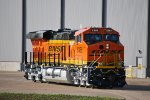 BNSF 8368 on the Test Track at GE Fort Worth Locomotive Plant.